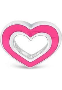 Pingente Life Coração Neon Rosa