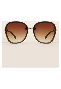 Óculos De Sol Feminino Redondo Yessica Marrom
