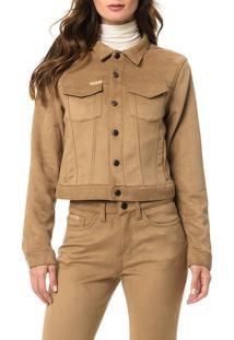 Jaqueta Calvin Klein Jeans Bolsos Caqui Claro - 42