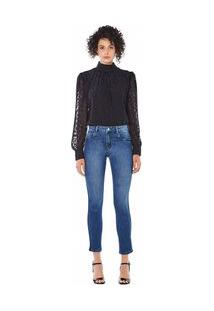 Calça Maria.Valentina Skinny M. Julia Cós Intermediário Detalhe Galão Jeans