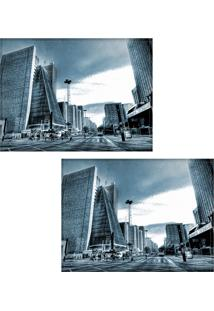 Jogo Americano Colours Creative Photo Decor - Avenida Paulista Azul Em São Paulo - 2 Peças