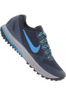 Tênis Nike Air Zoom Wildhorse 3 - Masculino - Azul Esc/Azul Cla