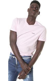 Camiseta Ellus 2Nd Floor Flame Rosa