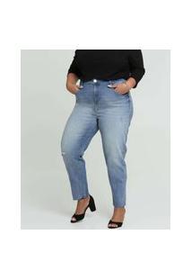 Calça Plus Size Feminina Jeans Cigarrete Marisa