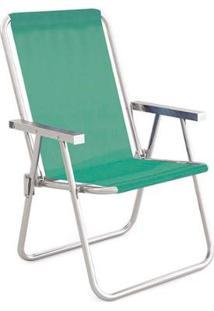 Cadeira Alta Conforto Alumínio Sannet Anis - Unissex-Verde Claro