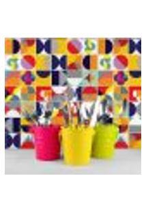 Adesivo De Azulejo 20X20 Para Cozinha Colorido Retrô 24Un