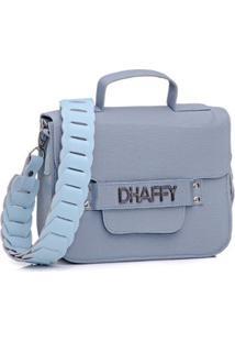 Bolsa Dhaffy Alça De Mão E Transversal Artesanal Feminina - Feminino-Azul