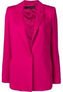 Federica Tosi Blazer Com Abotoamento Simples - Rosa