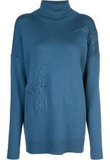 Altuzarra Blusa Bromley De Tricô - Azul