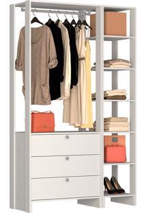 Guarda-Roupa Modulado Closet 102104 - Nova Mobile - Branco