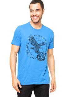 Camiseta Ellus Eagle Never Azul