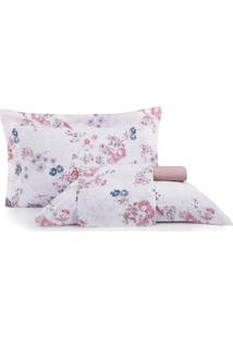 Jogo De Cama King Altenburg Home Collection 180 Fios Red Velvet - Rosa Rosa