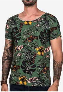 Camiseta Tropical Verde 102475