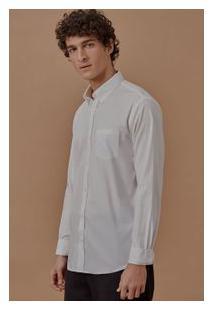 Camisa Ml Lisa Tricoline C/ Bolso