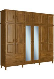 Guarda Roupa Casal 2 Espelhos 12 Portas 4 Gavetas Retrô Chicago Evidence Siena Móveis