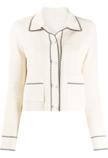 Sandro Paris Cardigan Cropped Lore - Neutro