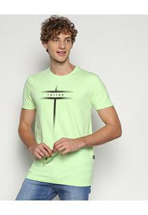 Camiseta Triton Estampada Masculina - Masculino-Verde Limão