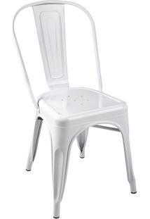 Cadeira Iron Tolix - Industrial - Aço - Vintage - Preto