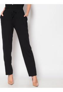 Calça Pantalona Com Bolsos- Preta- Vittrivittri