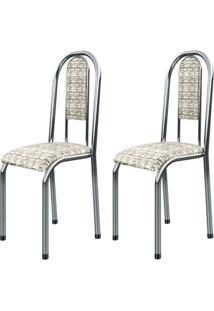 Cadeira Assento Anatomico 2 Peças 00122 Cromada Bege Archeli