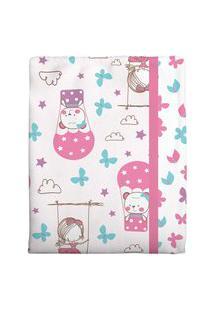 Cobertor Estampado - Rosa Bambi