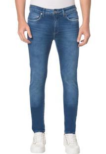 Calça Jeans Five Pocktes Skinn Ckj 016 Skinny - Azul Médio - 46