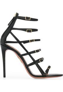 Aquazzura Sandália Supermodel Com Buckle - Preto