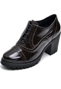 Ankle Boot Feminino Verniz Confortável
