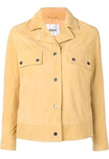 Stand Fitted Shirt Jacket - Amarelo