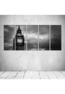Quadro Decorativo - London Pb - Composto De 5 Quadros