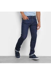 Calça Jeans Skinny Lacoste Lavagem Escura Masculina - Masculino