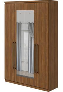 Guarda Roupa Alonzo New 4 Portas Com Espelho Rovere Naturale
