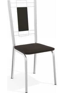 Kit 2 Cadeiras Florenã§A Cromada De Metal Preto Kappesberg - Preto - Dafiti