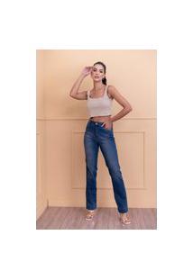 Calça Reta Sisal Jeans Azul