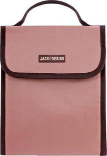 Bolsa Térmica Essencial Com Tag- Rosa Pastel & Marrom