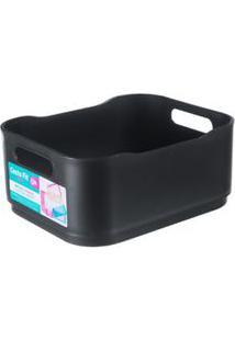 Cesta Pequena De 2,22L Plástico Preta Fit Brinox