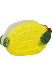 Porta Guardanapos De Cerâmica Biga 11X5X8Cm - Linha Lemons S