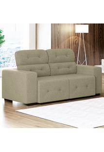 Sofá Com 3 Lugares Blanc – Linoforte Moveis - Bege