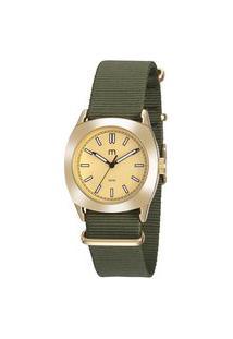 Kit De Relógio Analógico Mondaine Militar Feminino + Pulseira - 32033Lpmgdj1K Dourado