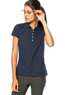 ... Camisa Polo Tommy Hilfiger Bordado Azul Marinho 59fe66bf14923