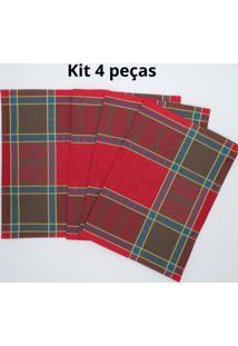 Kit De 4 Pc. Jogo Americano Lea Jaquarde 100% Algodão 35X47 Cm