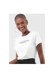 Camiseta Fiveblu Lettering Branca