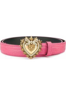 Dolce & Gabbana Cinto Com Fivela Devotion - Rosa
