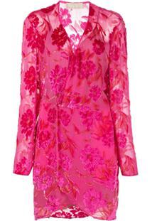 Fleur Du Mal Vestido Envelope Com Estampa Floral - Rosa