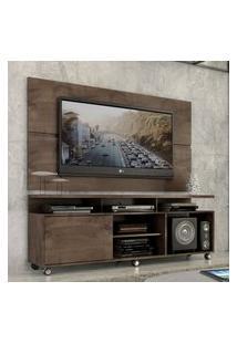 """Rack Com Painel Home Leblon 1,6 M Para Tv 55"""" Marrom"""