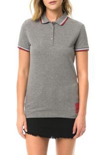 Polo Calvin Klein Jeans Com Logo Na Barra E 1978 Costas Mescla - Pp