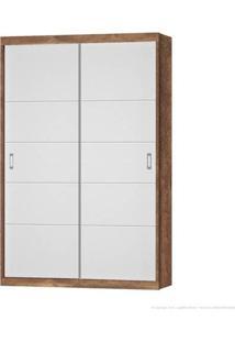 Guarda Roupa Porta De Correr Fratelli New Teka Toutch Com Branco Acetinado - Móveis Matic