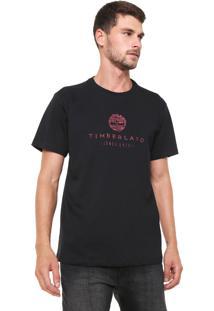 Camiseta Timberland Basic Bla Preta