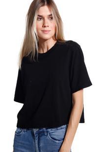Camiseta John John Basic Black Malha Preto Feminina (Preto, Pp)