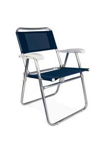 Cadeira Master Aluminio Azul